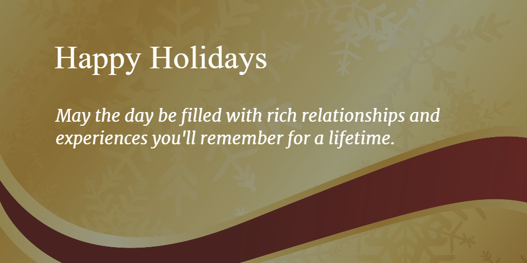 Wealth Health Happy Holidays